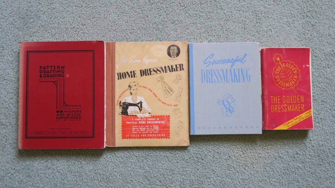 Vintage sewing books