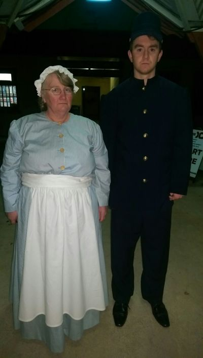 Female prisoner and warder at the Old Castlemaine Gaol costumes by Little Grassbird