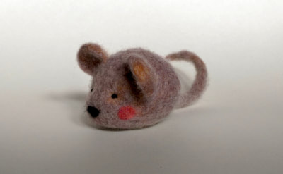 Custom needle felted mouse by Little Grassbird